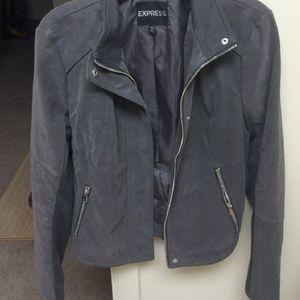 EXPRESS Grey Moto Jacket Medium M